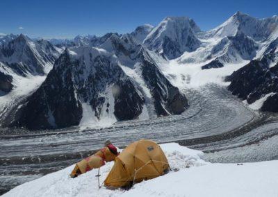Obóz 2 na wysokości 6 200 m. n.p.m.